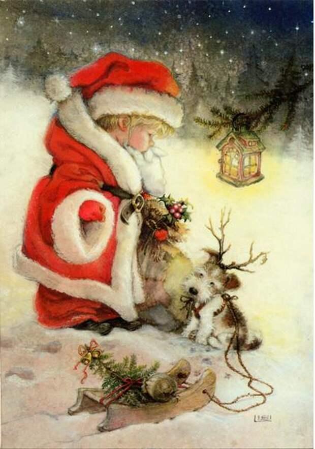 Новогодние сказочные рисунки Лизи Мартин