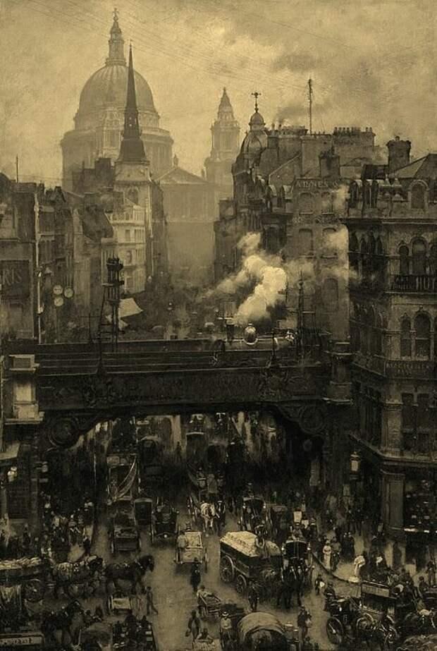 Улица британской столицы тех лет