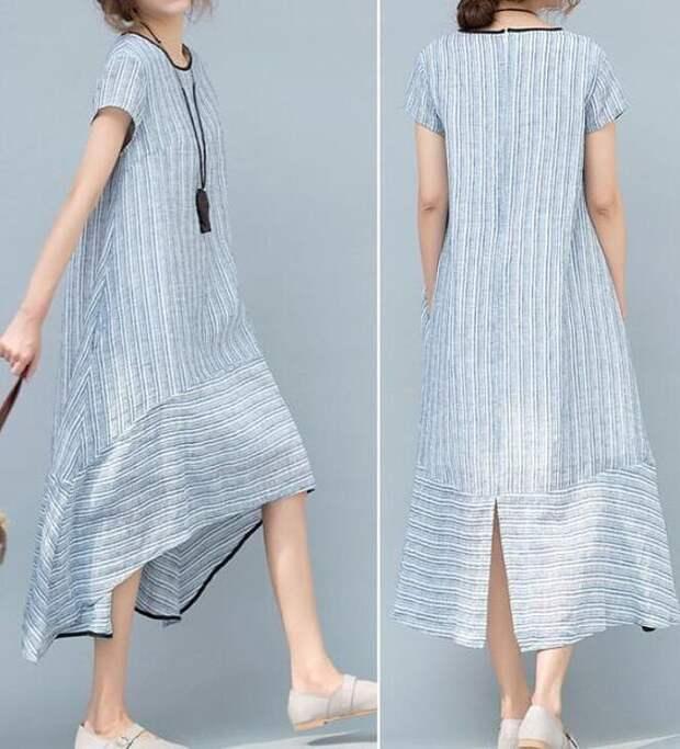 2021 2022 платье в полоску