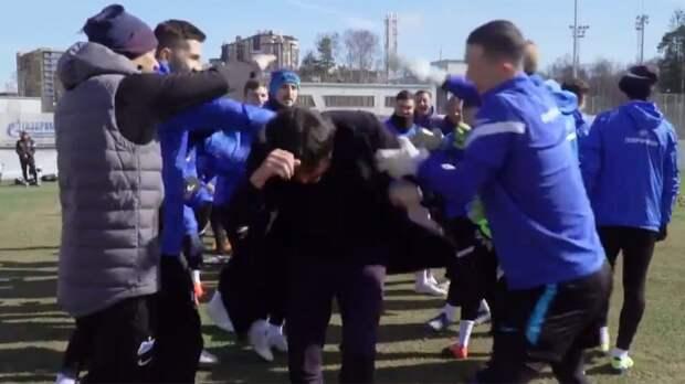 Игроки «Зенита» устроили прощальный тоннель для Рибалты: видео