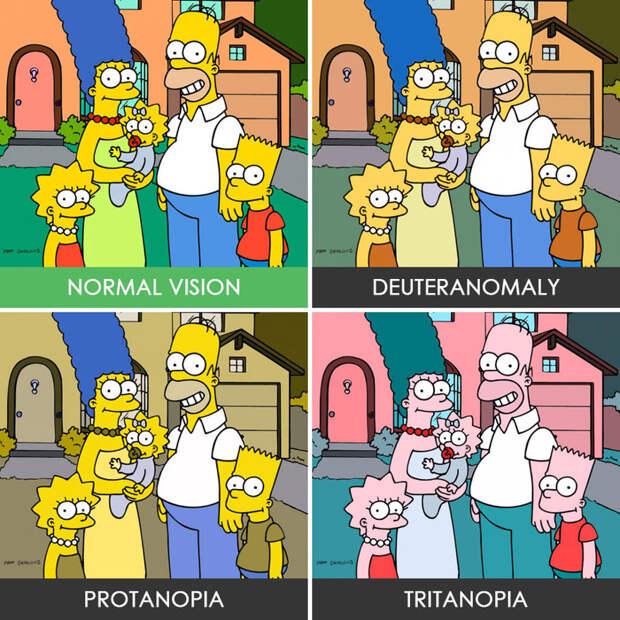 9. Симпсоны  дальтонизм, люди, мир