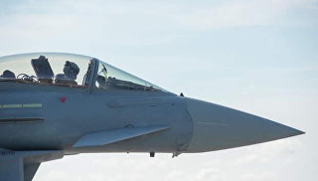 Истребитель ВВС Германии на военной базе в Эстонии