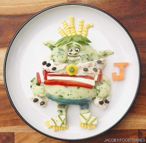 Творческая мама готовит для своего сына удивительно детальные завтраки в виде персонажей мультфильмов