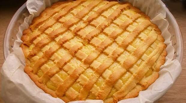 Песочный лимонный пирог. Яркий, солнечный пирог, который порадует вас своим вкусом 2