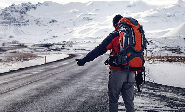 Мужчина поехал автостопом по зимникам Чукотки и трассе Колыма. Видео
