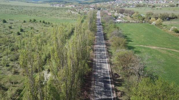 Ремонт дороги Доброе — Краснолесье в Симферопольском районе завершили досрочно