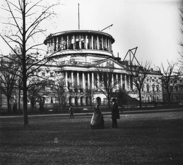 25. Капитолий США без купола, 1859 год. история, мир, фотография