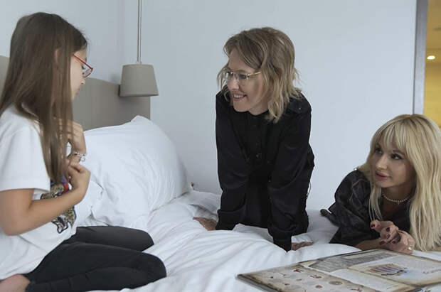 Ксения Собчак и Светлана Лобода с дочерью Евой