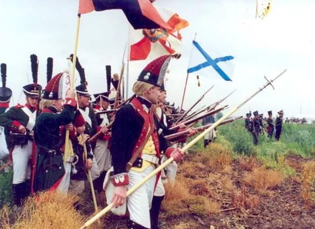 Драгун прикрывали пикинеры, сбрасывавшие всадников с сёдел своими копьями.