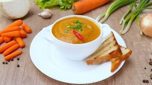 Суп-пюре из моркови. \ Фото: sovkusom.ru.