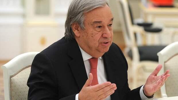 Генсек ООН Гутерреш прибыл в Москву для обсуждения вопросов безопасности