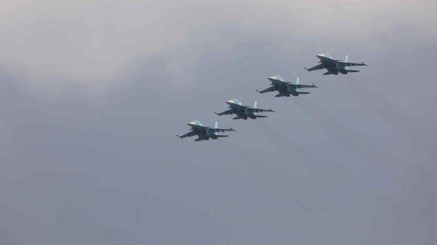 Тренировка воздушного парада состоялась над Ростовом