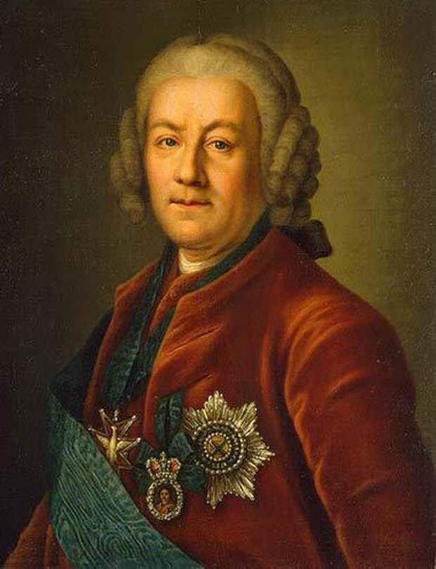 Портрет вице-канцлера Алексея Бестужева-Рюмина, неизвестный художник. wikimedia
