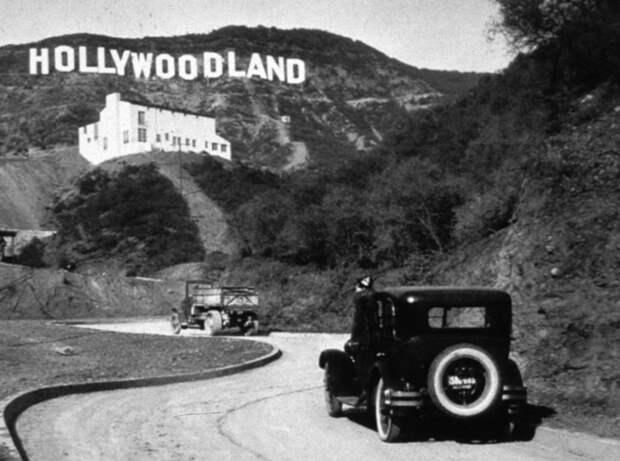 7. Знак Hollywoodland до того, как он превратился просто в Hollywood, 1925 год. история, мир, фотография