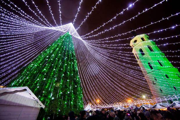 Рождественская ёлка в Вильнюсе 2016