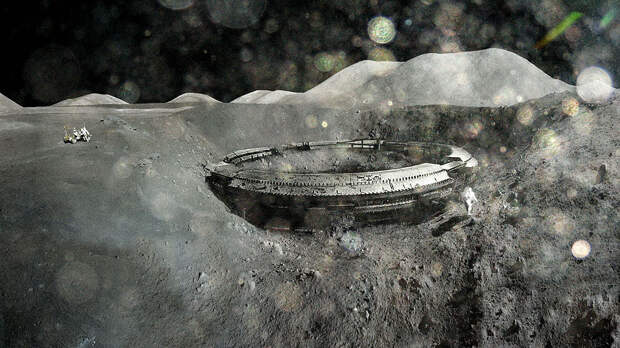 Астронавты США обнаружили на Луне космический корабль инопланетян