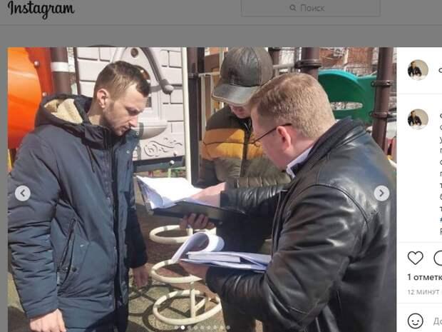 В Некрасовке начались работы по благоустройству дворов