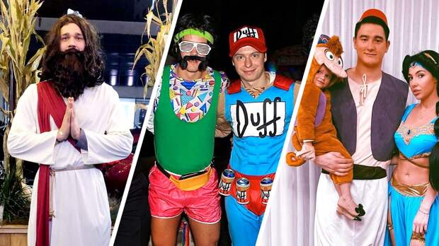 Иисус, Симпсон, Аладдин иШрек. Бомбические костюмы хоккейных звезд наХэллоуин