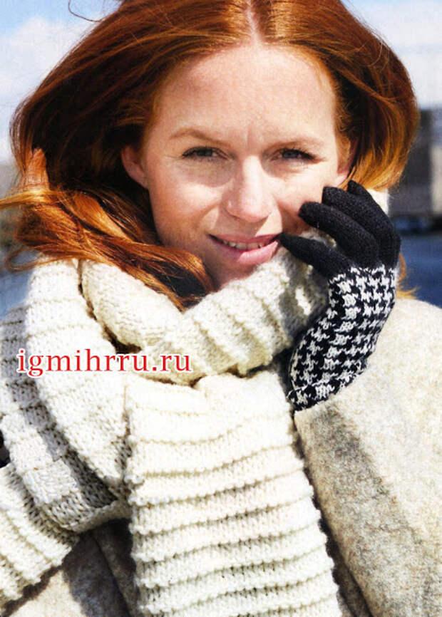 Женские перчатки спицами. Схема и описание