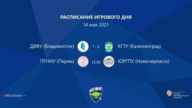 ПГНИУ (Пермь) — ЮРГПУ (Новочеркасск) | Высший дивизион, «В» | 2021