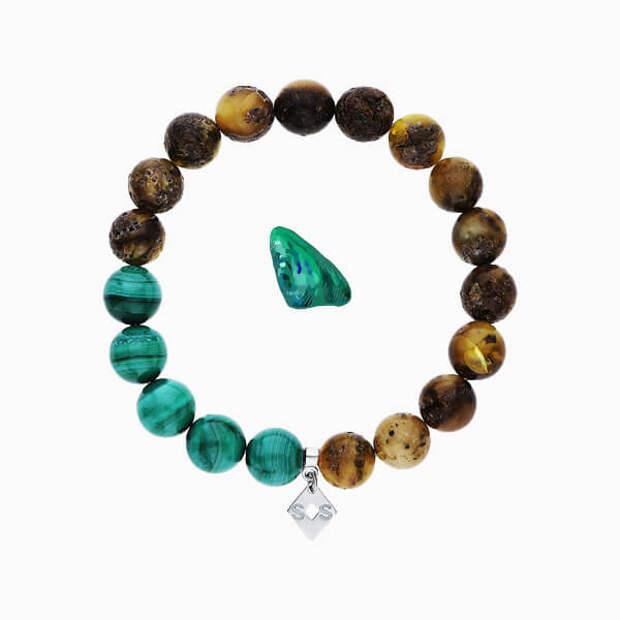 Зодиакальные камни декабря: лазурит и малахит