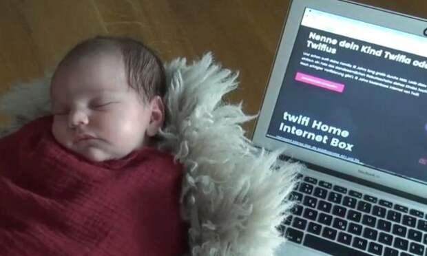 Родители обменяли имя новорожденной дочери на 18 лет бесплатного Интернета