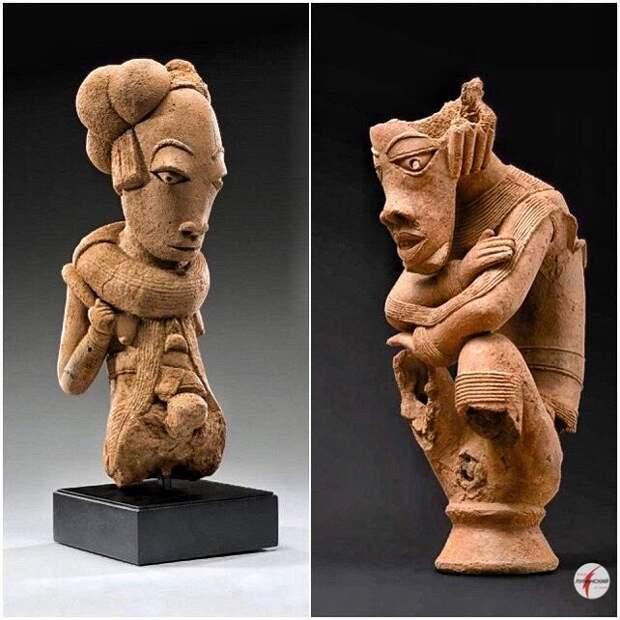 в керамическом искусстве цивилизация Нока выражала свои страхи и надежды