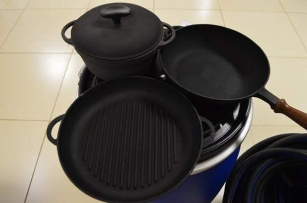 Обжиг, как метод очистки чугунной посуды