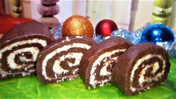 Простой и вкусный домашний рулет без выпечки Bounty Десерт без выпечки, Рулет баунти рецепт, Десерт на новый год, Рецепт, Видео, Еда, Кулинария, Сладости