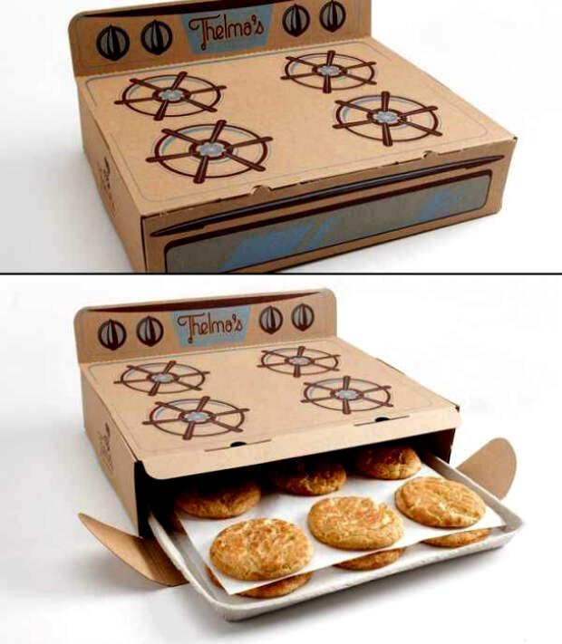 Очаровательная упаковка домашнего печенья.