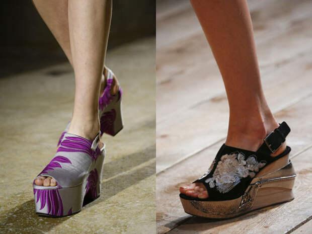 Модная платформа и танкетка 2016