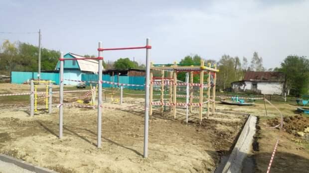 Спортивные площадки возводят в нескольких селах Уссурийского округа