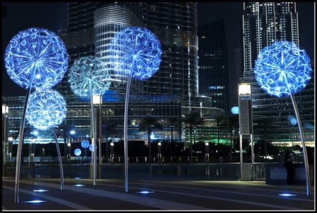 Светодиодный одуванчик - интересная идея декоративной подсветки дачного участка!