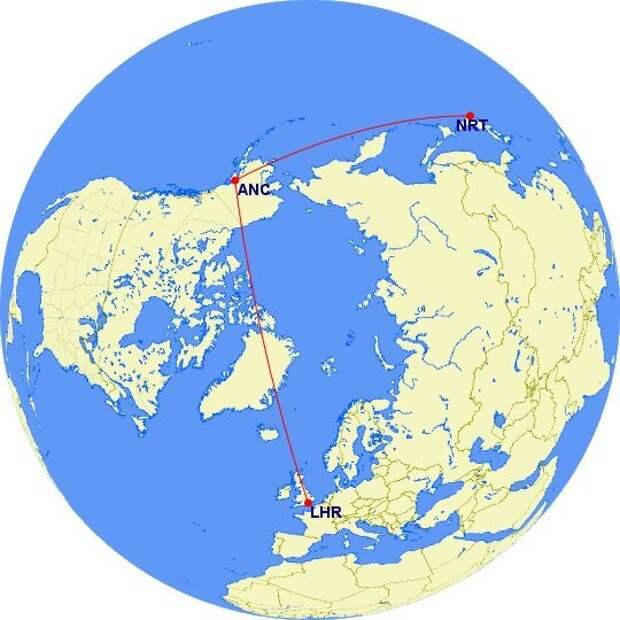 Полёт из Лондона в Токио, последствия закрытого неба и самые загруженные авиамаршруты