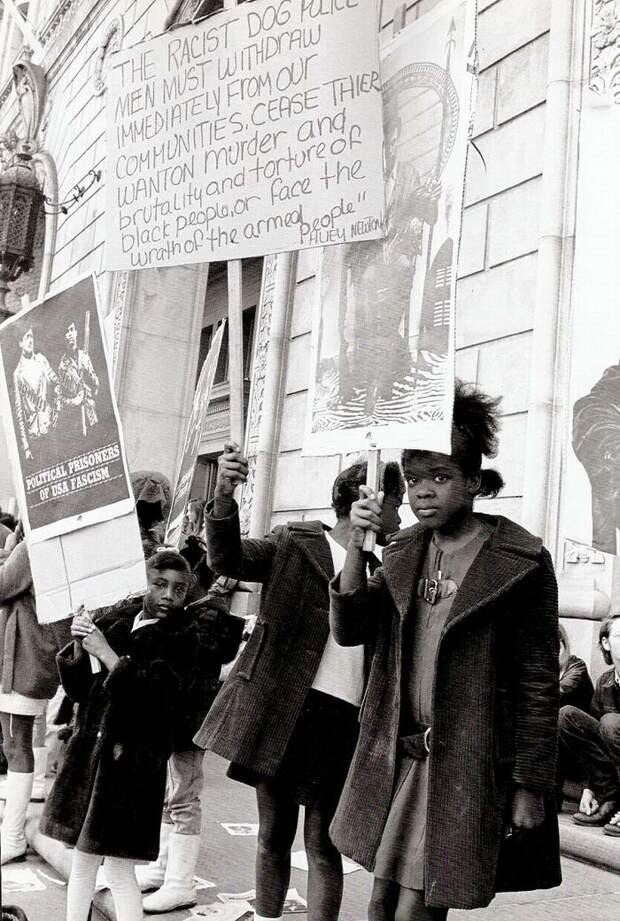 Социальные конфронтации в США 1960-х - 1970-х годов: Леворадикальная Партия черных пантер   (19)