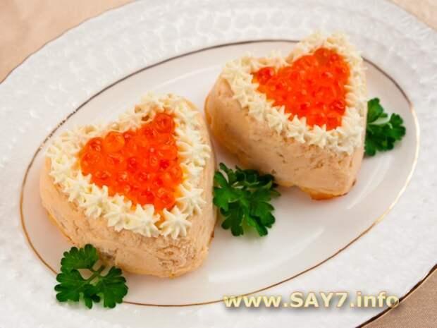 Салат «Любовь по-царски» с красной икрой