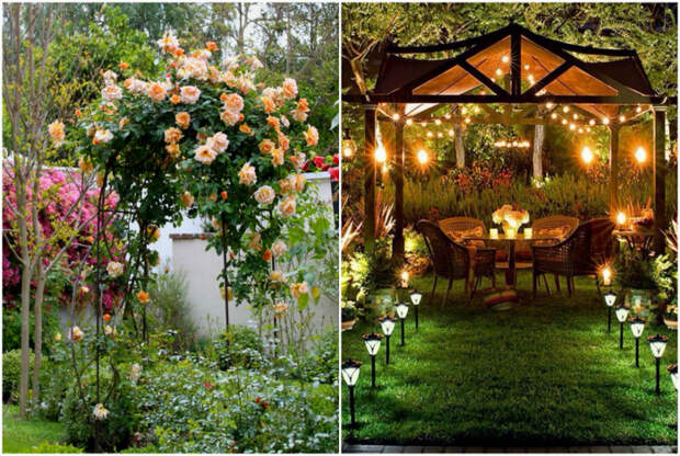Беседки и арки в саду.   Фото: Rita Salgueiro, dim-sad-gorod.com.