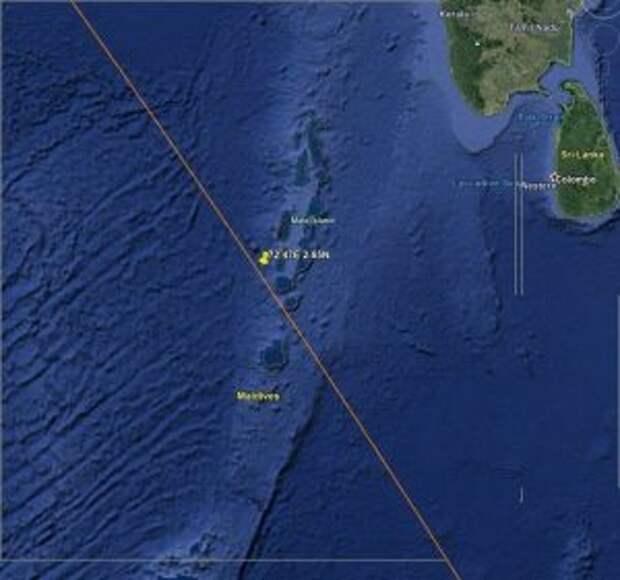 Обломки ступени китайской ракеты Long March-5B упали на Землю