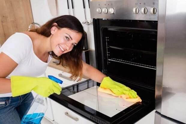 Очистка духовки от жира внутри