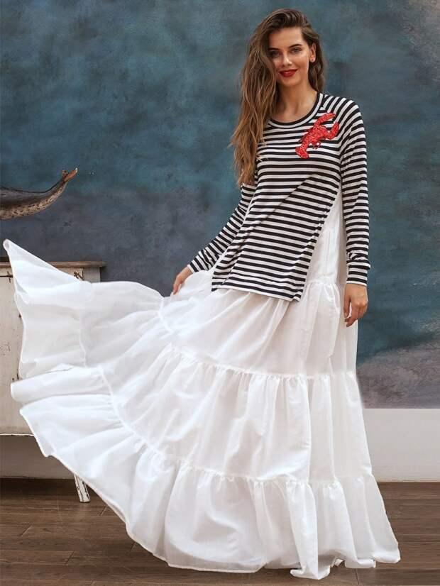 Платье парашют из тельняшки своими руками выкройка