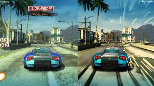 Новую графику игры Burnout Paradise Remastered сравнили с оригиналом на видео