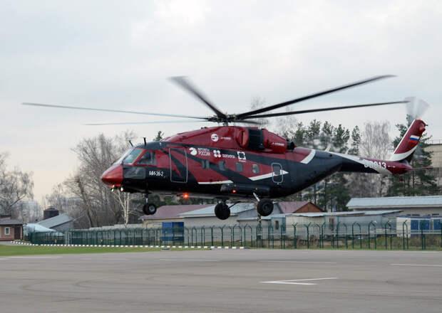 Состоялся первый полет нового вертолета Ми-38 с российскими двигателями ТВ7-117В