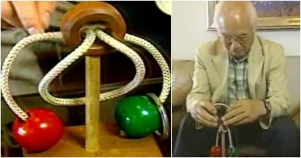 Японский дедушка 10 лет не мог разгадать головоломку, а когда почуствовал, что его жизни может не хватить, обратился на телевидение видео, головоломка, пенсионер, япония