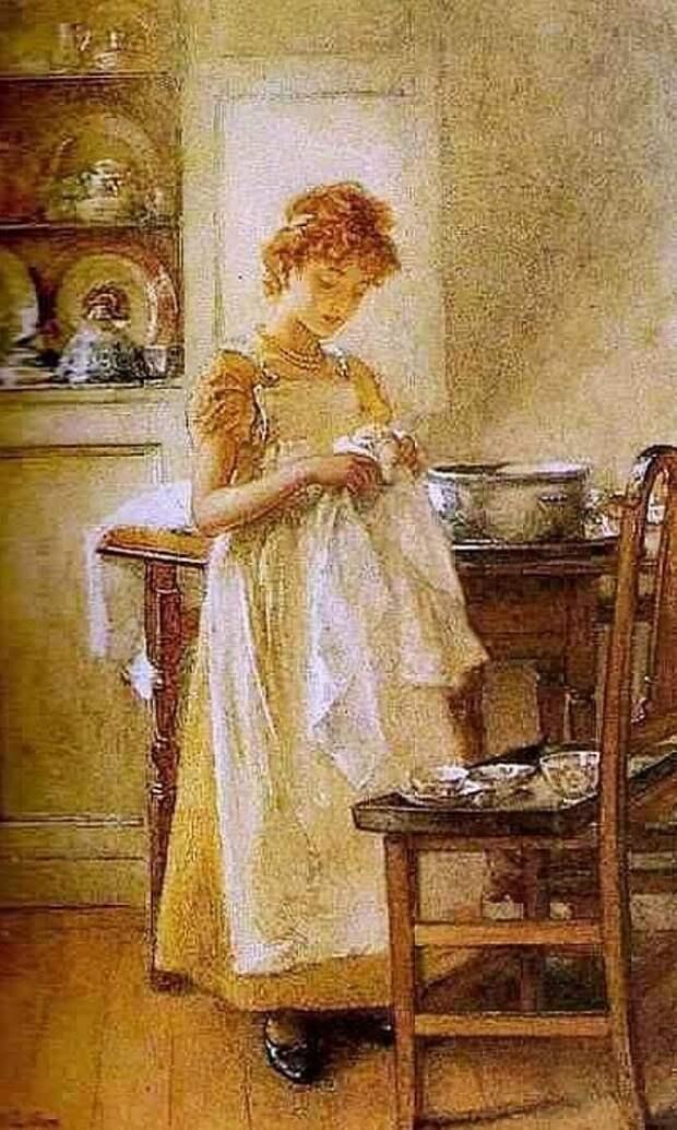 Художник Mary Lightbody Gow (1851 – 1929). Призрачное акварельное счастье