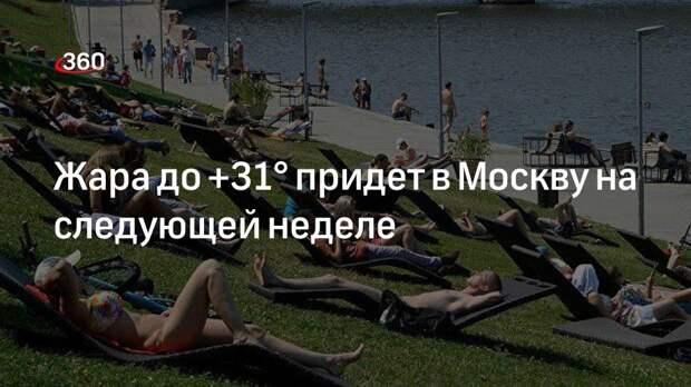 Жара до +31° придет в Москву на следующей неделе