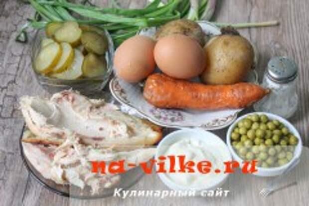 Оливье с курицей