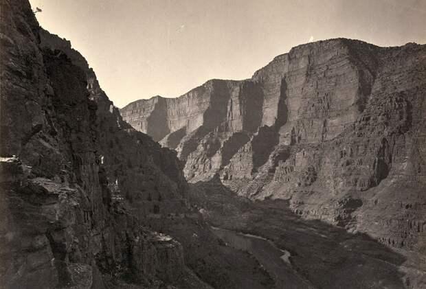 Каньон Лодор в Колорадо. Снимок в 1872 года.