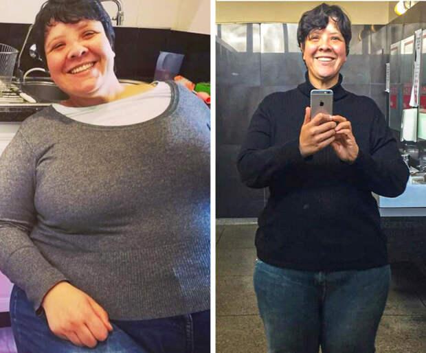 Взгляните на фотографии 20 человек, которые учинили расправу над своими лишними килограммами