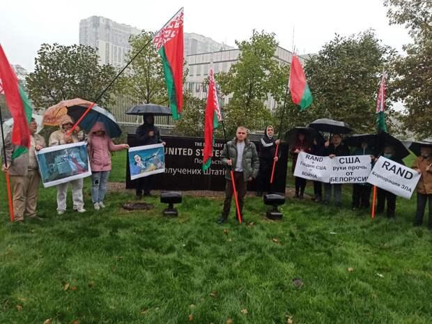 На Украине травят храбрых белорусов за пикет посольства США против Майдана и Rand