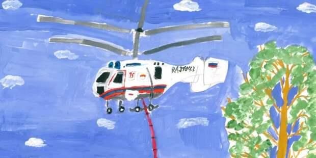 Московский авиацентр проводит конкурс рисунков, посвященный Дню воздушного флота России